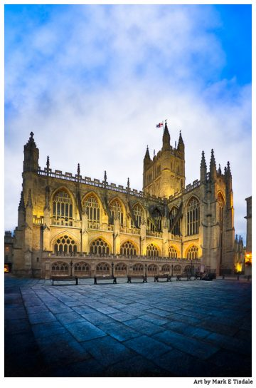 Bath Abbey At Dusk Art Print