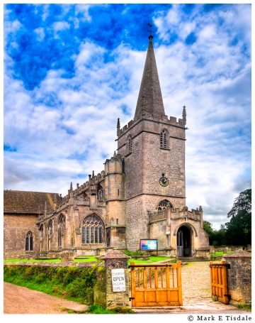 Picture of a beautiful English Village Church in tiny Lacock