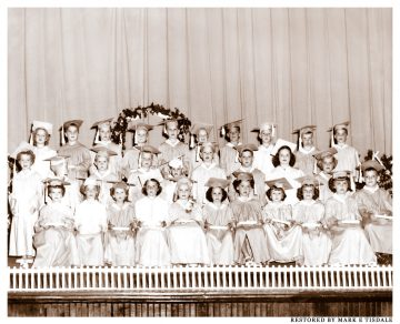 Photo Restoration Project - Early 1950's Kindergarten - Andalusia Alabama