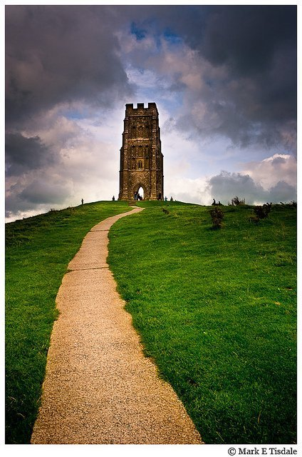 Picture of Glastonbury Tor - site of the yearly music festival