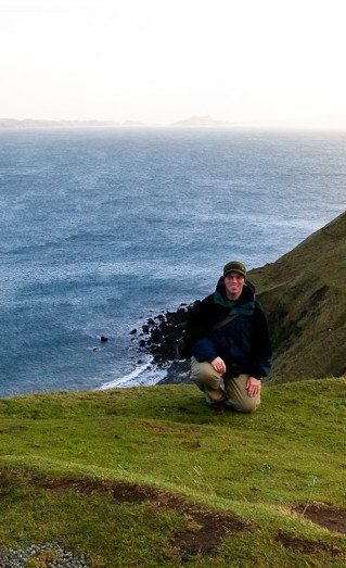 Mark, early in his journey as a visual artist, on the Isle of Skye