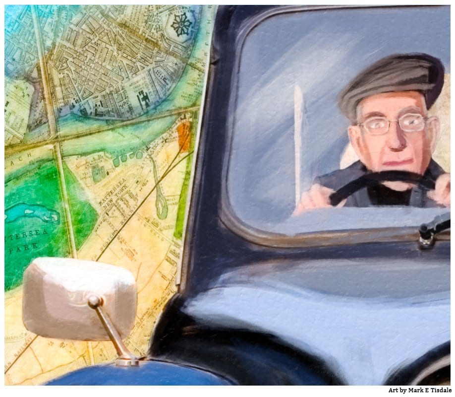 London Cabbie Details From my London themed artwork