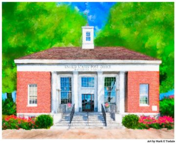 Montezuma Georgia Art Print - Classic New Deal Era Post Office