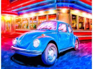 Volkswagen Beetle Artwork - A Trip Down Memory Lane