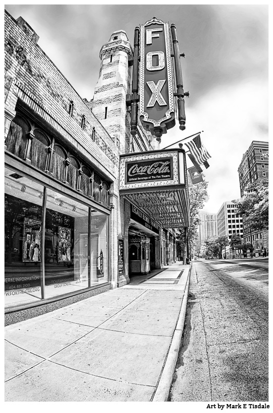 Atlanta Black And White Photos - The Fox Theatre On Peachtree
