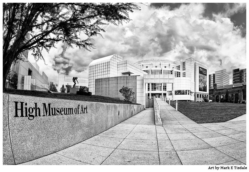 Black and white photos of Atlanta - The High Museum architecture