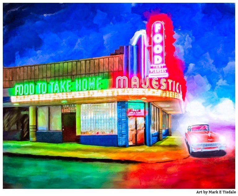 Local Atlanta Art - Painting Of The Majestic Diner