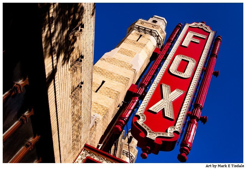 Local Atlanta Art - The Fabulous Fox Theatre