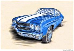 1970 Chevelle Artwork - Classic Chevy Poster