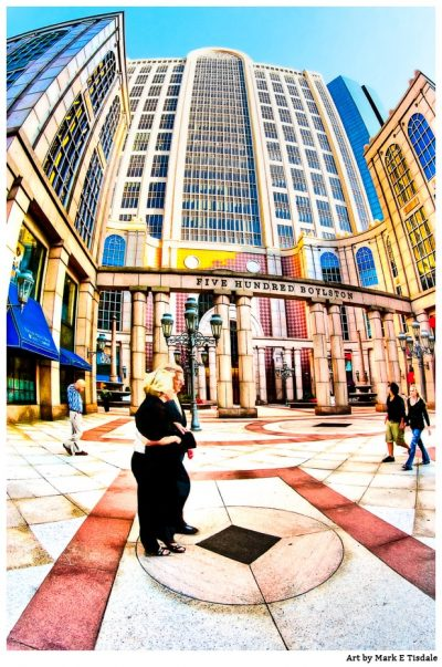 Art print of 500 Boylston Street in the heart of Boston