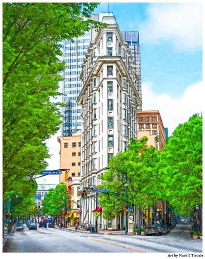 Art Print of Atlanta American English Building - The Flatiron