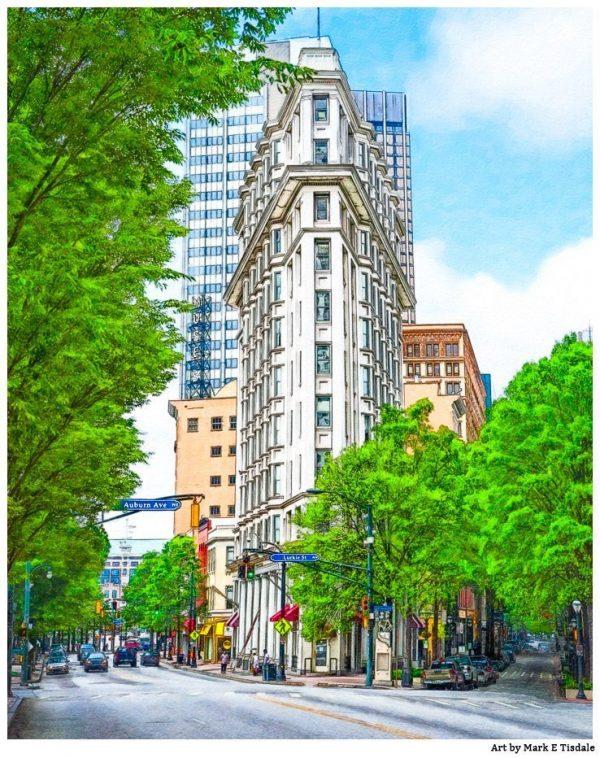 Art Print of Atlanta American English Building - The Flatiron