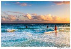 Caribbean Sea Sunset in Playa del Carmen - Print by Mark Tisdale