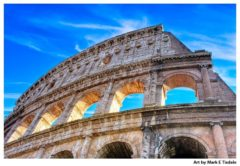 Ancient Colosseum Ruins - Rome Italy Print by Mark Tisdale