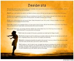 Desiderata Poem Print - Inspirational Art Design by Mark Tisdale