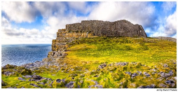 Dún Aonghasa - ancient iron age ruins on the Irish Coast - Print by Mark Tisdale