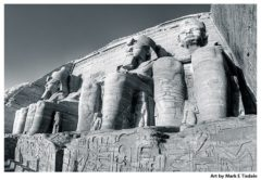 Egyptian Ruins Print by Mark Tisdale - Abu Simbel
