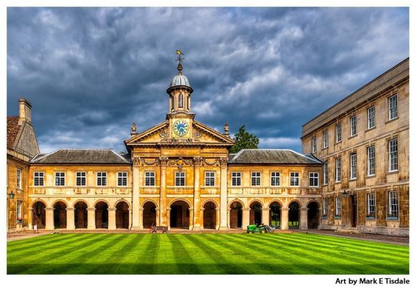 Christopher Wren Chapel at Emmanuel College - Cambridge England Print by Mark Tisdale