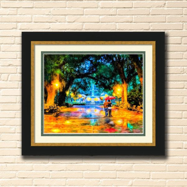 Forsyth Park - Savannah - Large Framed Wall Art