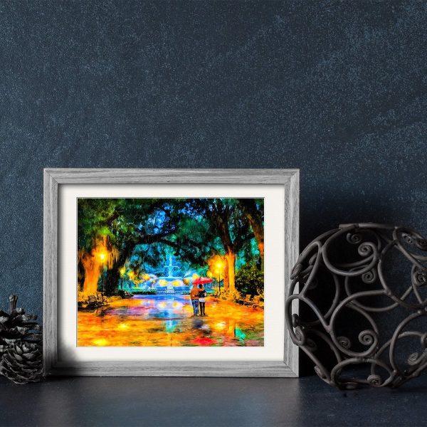 Forsyth Park - Savannah - Framed Print