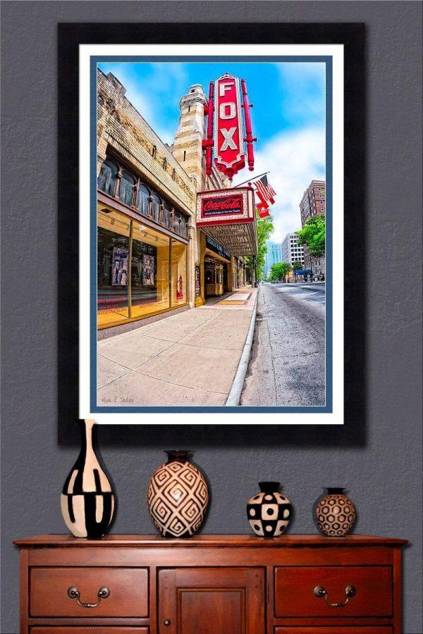 Fox Theater Fra,ed Wall Art – Atlanta Peachtree Street