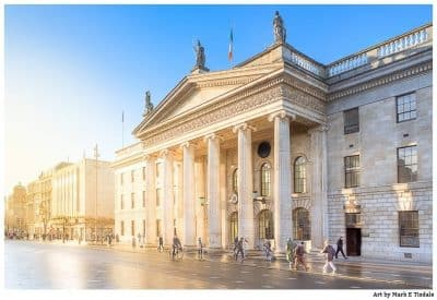 Sunny day in Dublin Ireland - O'Connell Street - Print by Mark Tisdale