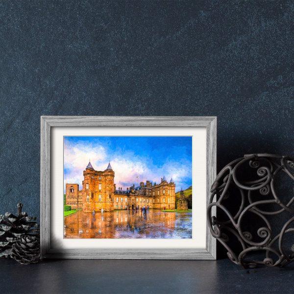 Holyrood Palace Framed Print - Edinburgh Royal Landmark Art By Mark Tisdale