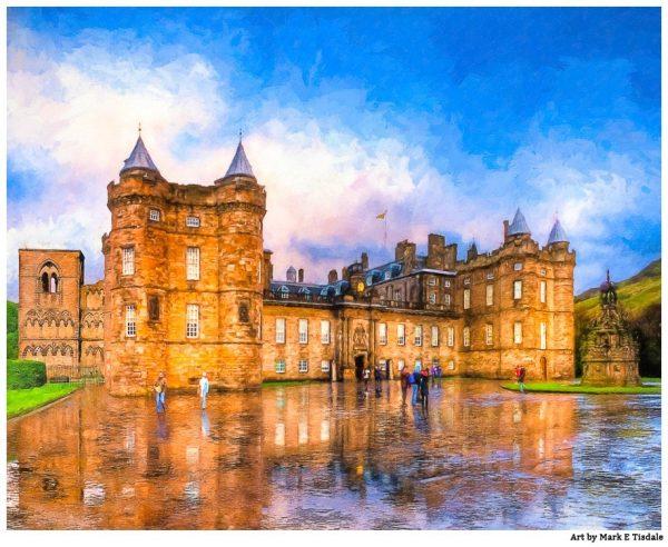Holyrood Palace Print - Edinburgh Royal Landmark Art by Mark Tisdale