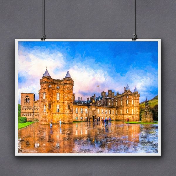 Holyrood Palace Print For Framing by Artist Mark Tisdale