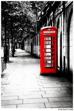 Red Telephone Box Print - London Calling Art by Mark Tisdale