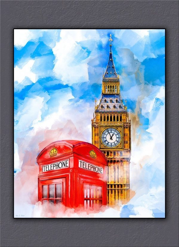 Big Ben And A Red Phone Box - London Dreaming Canvas Print