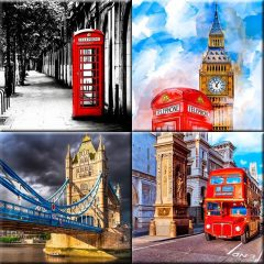 London Art Prints Collection by Mark Tisdale