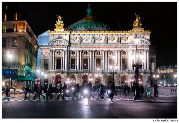 Paris Opera - Palais Garnier at night - Print by Mark Tisdale