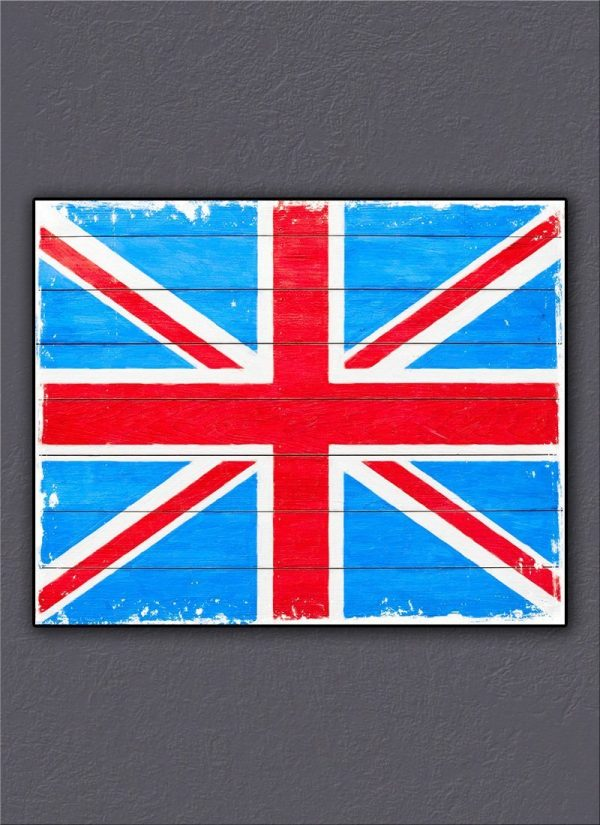 Rustic British Union Jack - Canvas Print