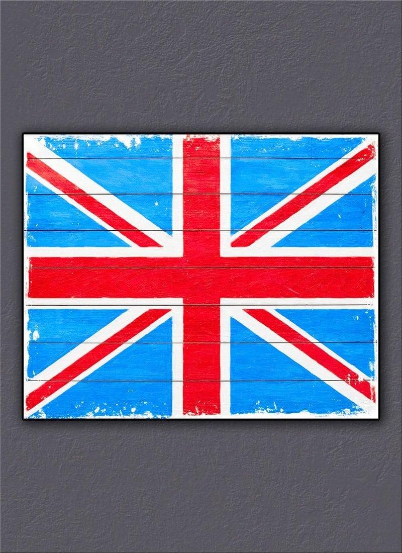 Rustic Union Jack British Art Print And Decor