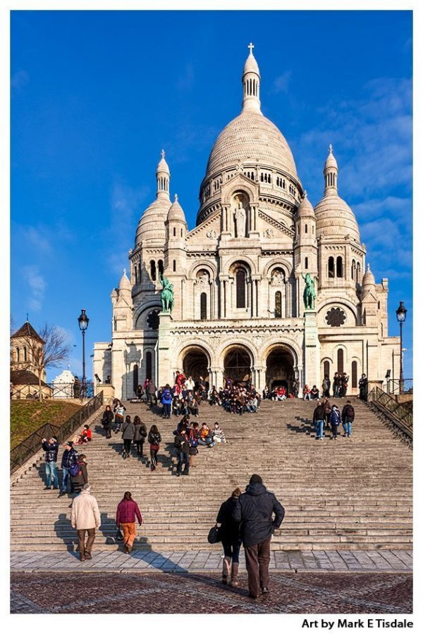 Sacré Coeur - Paris Montmartre Landmark Print by Mark Tisdale