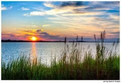 Savannah River Sunrise - Georgia Coast Landscape Print by Mark Tisdale