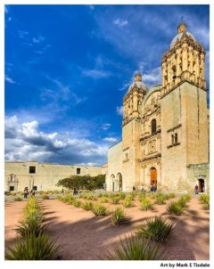 Spanish Baroque architecture in Mexico - Oaxaca Church Print by Mark Tisdale