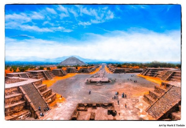 Teotihuacan Ruins - Avenue Of The Dead - Mexican Art Print by Mark Tisdale