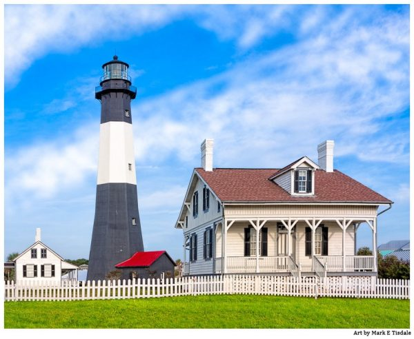 Tybee Island Lighthouse In The Morning - Georgia Coast Landscape Art Print by Mark Tisdale