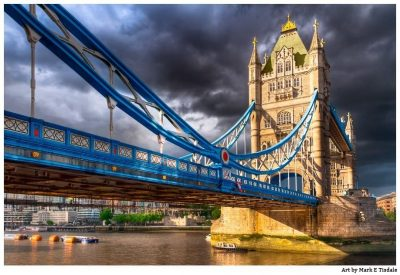 Victorian Gothic Tower Bridge - London Landmark Art Print by Mark Tisdale