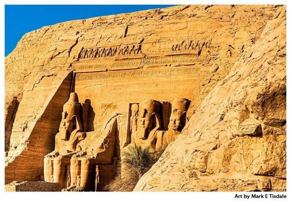 Art Print of Abu Simbel - Ramses II Monument in Upper Egypt