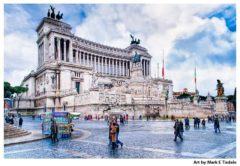 Art Print of the Altare della Patria in Rome - The Altar of the Fatherland Monument