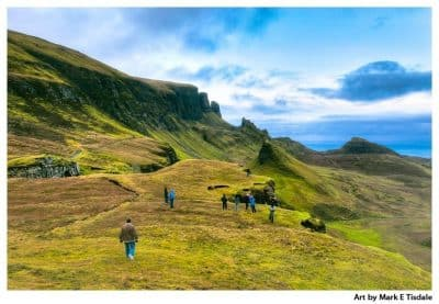 Art print of an amazing Scottish highland landscape on the Isle of Skye