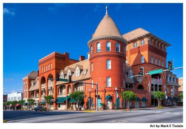 Art print of the Historic Windsor Hotel - Americus Georgia