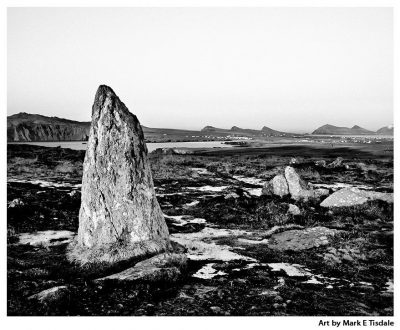 Art Print an an Ancient Irish Landscape on the coast of County Kerry