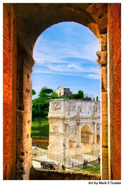 Art print of an Ancient Roman Arch - Classical Architecture