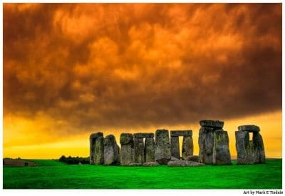 Art Print of Dramatic Landscape of Ancient Stonehenge