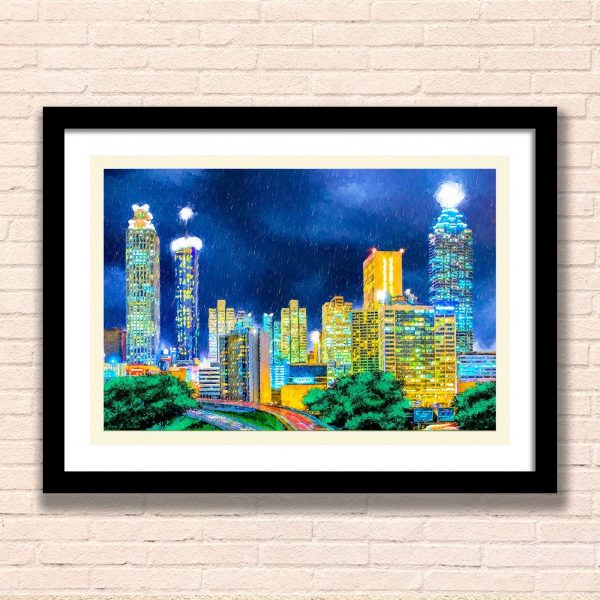 Atlanta Skyline Framed Wall Art