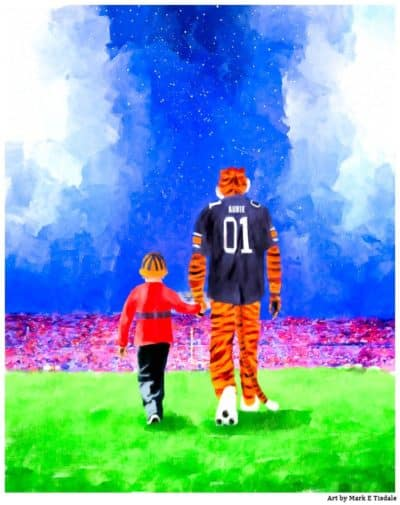 Aubie Art Print By Mark Tisdale